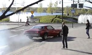 Chevy Camaro Burnout Fail