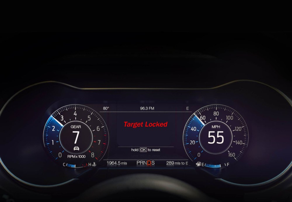 Ford Mustang Pedestrian Targeting System
