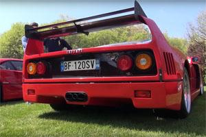 Cat-Less Ferrari F40 Exhaust Sounds