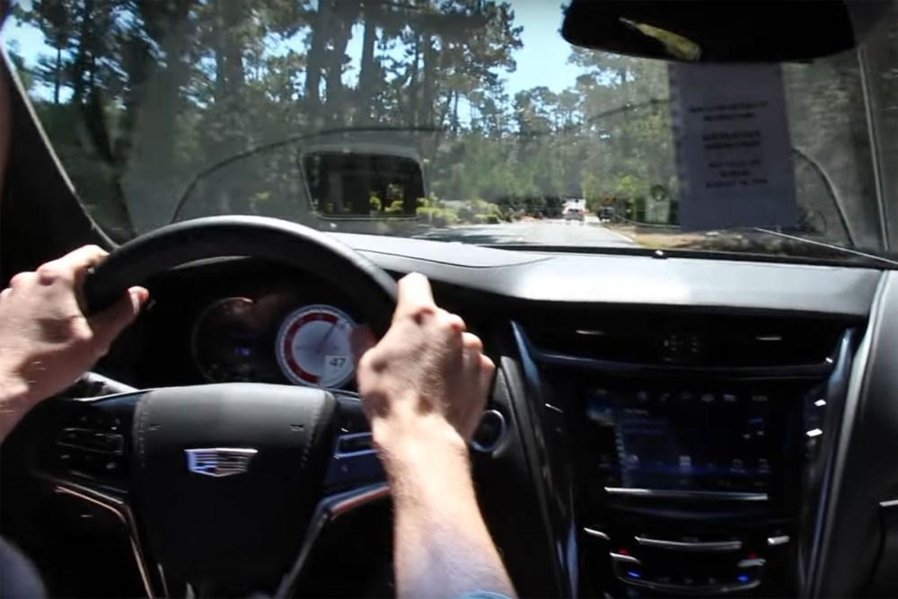 Cadillac CTS-V Test Drive Crash