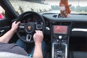 Playing DOOM in a Porsche 911 Carreara S