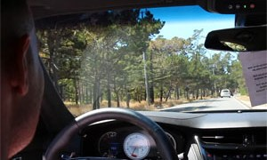 Cadillac CTS-V Test Drive Crash