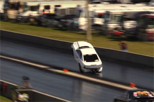 Ford Mustang Drag Race Wheelie Win