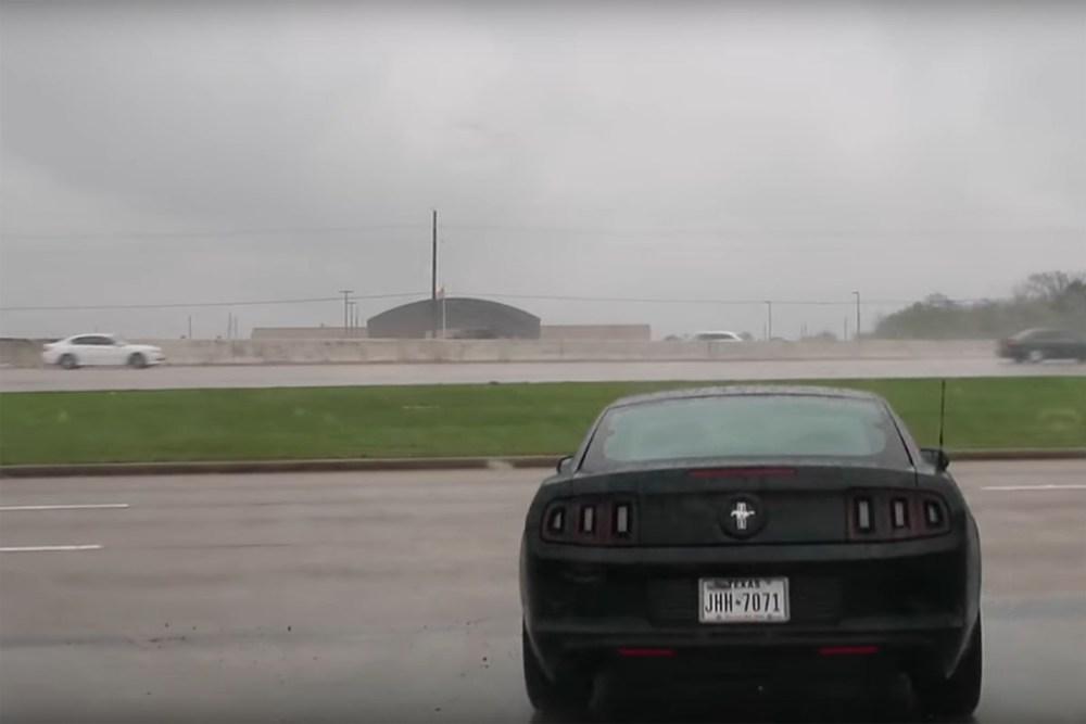 Ford Mustang Crash into Lamborghini Dealership