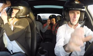 Romain Dumas Porsche Panamera Turbo Prank