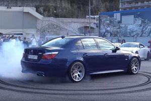 E60 BMW M5 Burnouts Monaco