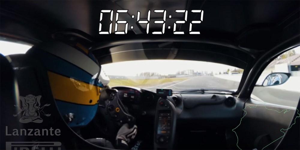 Lazante Motorsport McLaren P1 LM Nurburgring Record