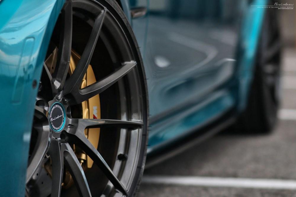 Atlantis Blue BMW M3 with Brixton Forged WR3 Ultrasport+ Wheels