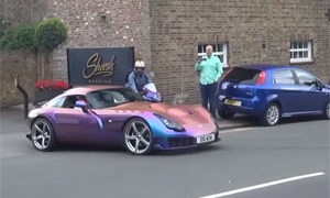 Supercars Leaving Car Show