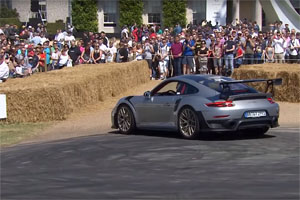 Friday FAIL Porsche 911 GT2 RS Goodwood Donut Fail
