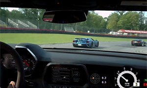 Chevrolet Camaro ZL1 vs Ford GT at Mid-Ohio