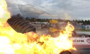 Close Call Drag Race Explosion