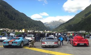 Supercar Drag Race in Alps