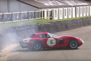 Ferrari 250 GTO/64 Crash at Goodwood Revival