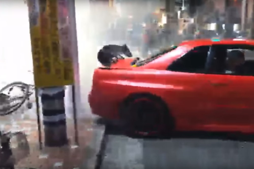 Skyline Drift Crash