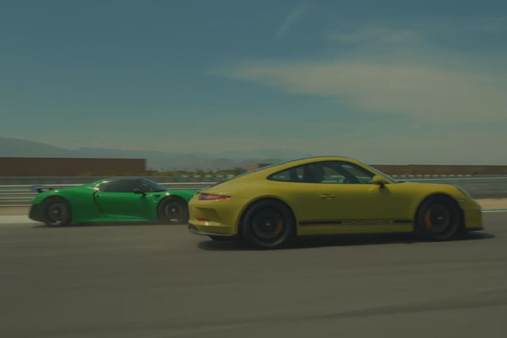 Porsche 911 R and 918 Spyder at the Thermal Club