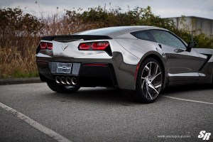 Widebody Chevrolet Corvette with PUR RS12 Wheels by SR Auto Group