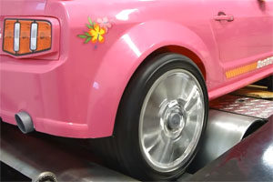 2013 Power Wheels Barbie Mustang Dyno