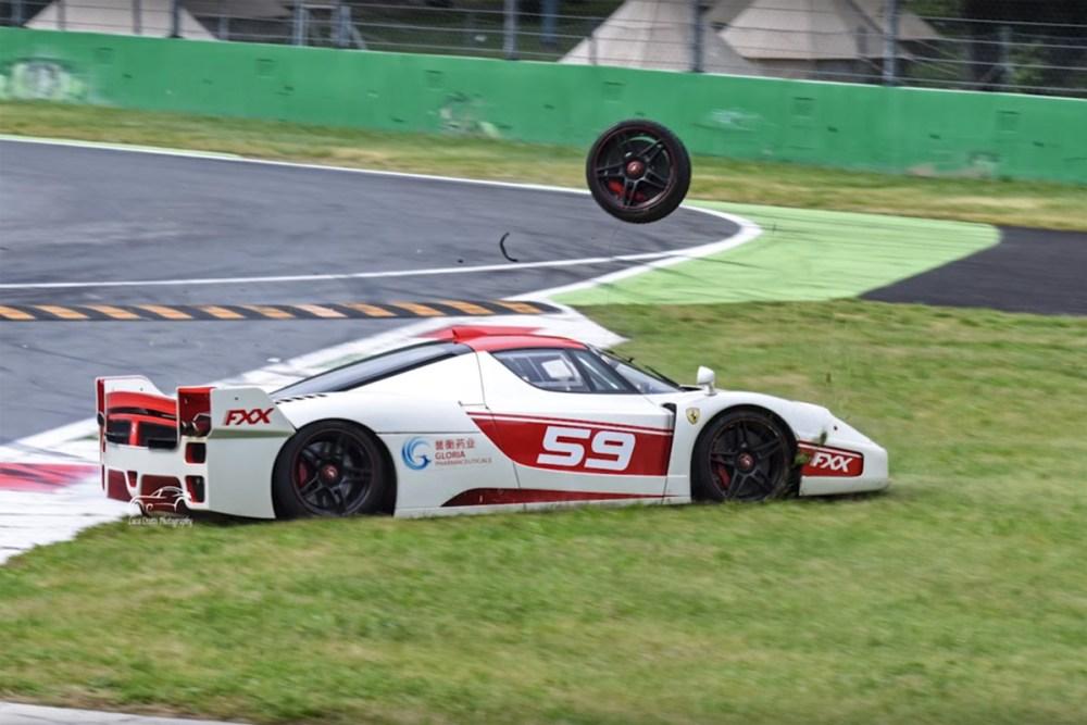 Ferrari FXX Crash at Monza