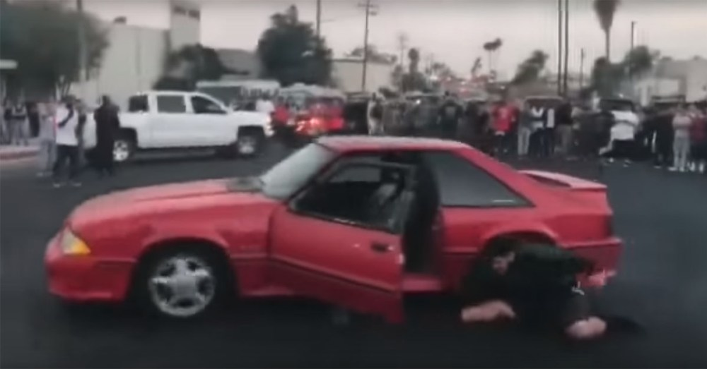 Friday FAIL Mustang Driver Ejected
