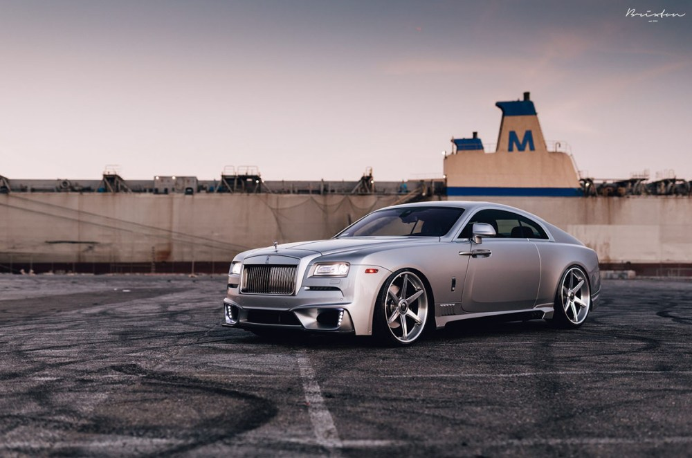 Rolls Royce Wraith with Brixton Forged S60 Targa Series Wheels and Wald International Body Kit