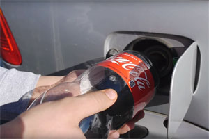 Coca-Cola in Fuel Tank