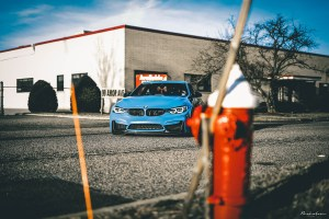 Yas Marina Blue BMW M4 with Brixton Forged CM10 Radial Forged+ Wheels