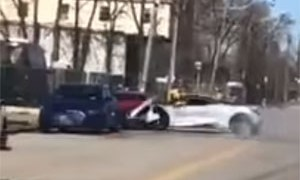 Friday FAIL McLaren 720S Crashes into Audi R8