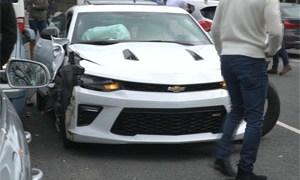 Friday FAIL Camaro Crashes Leaving Car Show
