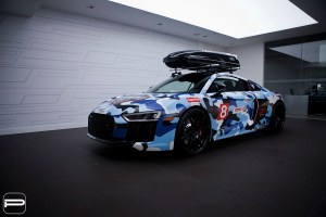 Camo Audi R8 with PUR FL26 Wheels