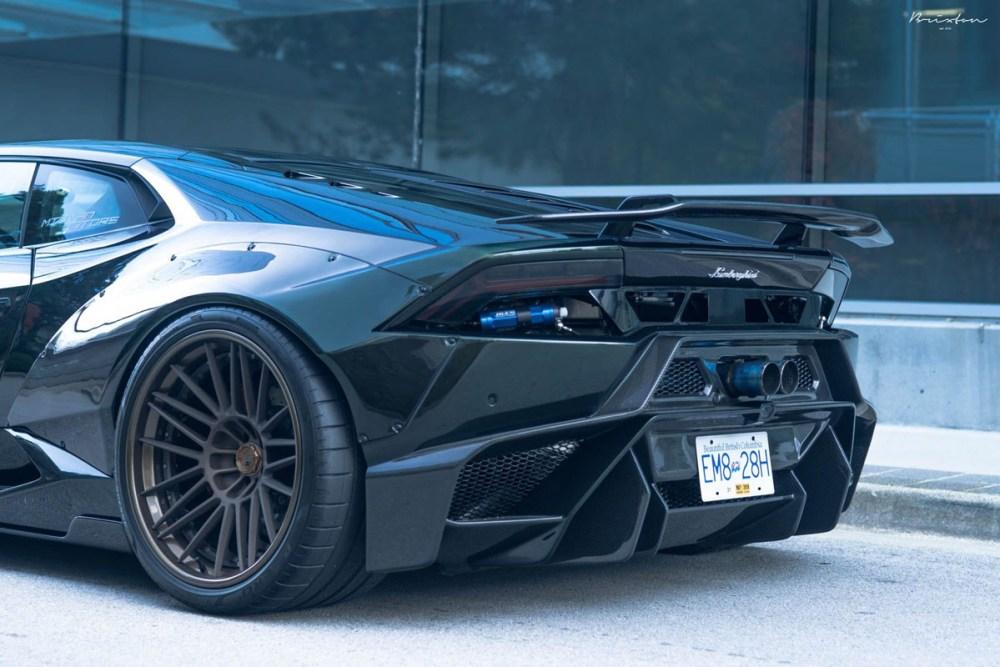 Liberty Walk Widebody Lamborghini Huracan with Brixton Forged VL7 Targa Series wheels by MWDesign