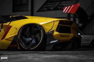 Liberty Walk Lamborghini Aventador with PUR LX12.V2 Wheels