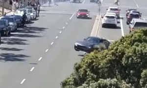 Friday FAIL BMW Crash Leaving Car Show