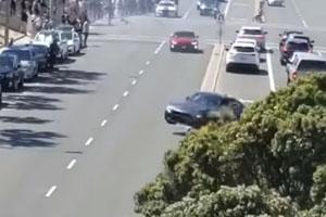 Friday FAIL BMW Crash Leaving Car Show