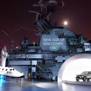 Land Rover Discovery Vision Concept SpaceShipTwo VSS Enterprise USS Intrepid