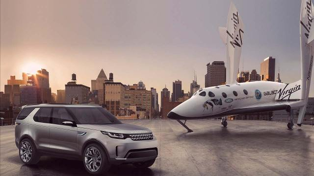 Land Rover Discovery Vision Concept SpaceShipTwo VSS Enterprise
