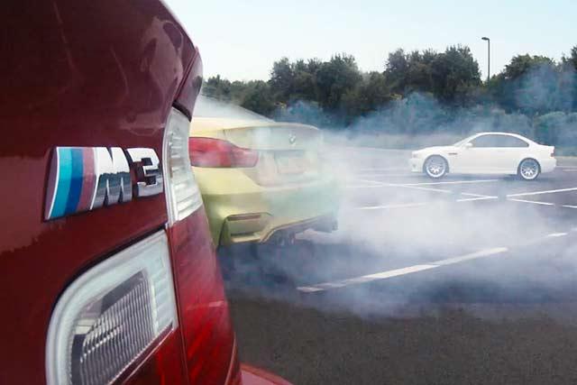 BMW M4 launch drift