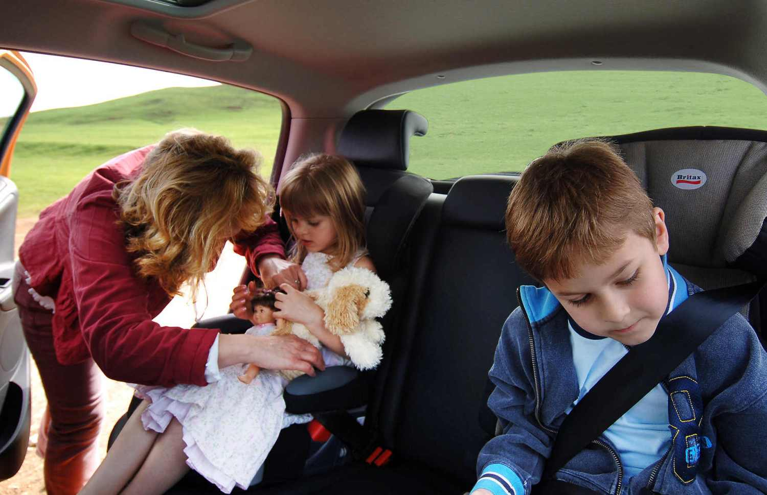 Children in car