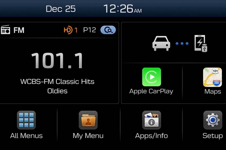 Apple CarPlay integration via Hyundai Display Audio
