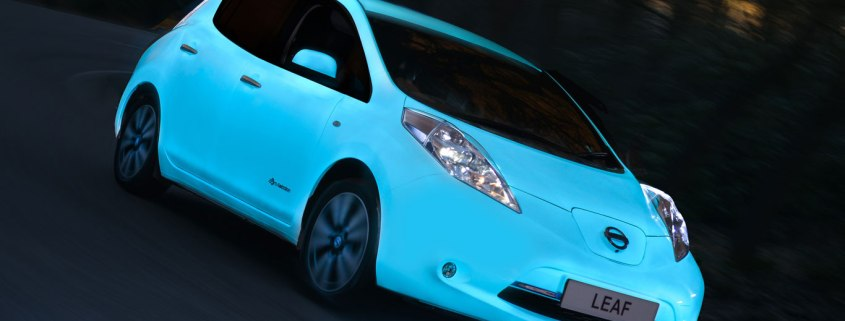 Nissan reveals glow-in-the-dark Leaf