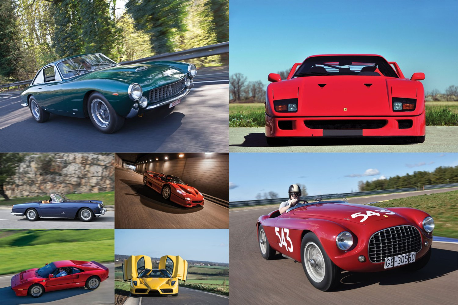 7 Ferraris scoop the Euromillions jackpot at Villa Erba