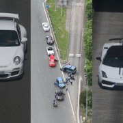 Rumbled: Brit supercar convoy caught speeding by French police helicopter
