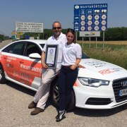 Pair drive Audi A6 through 14 countries on one tank of fuel