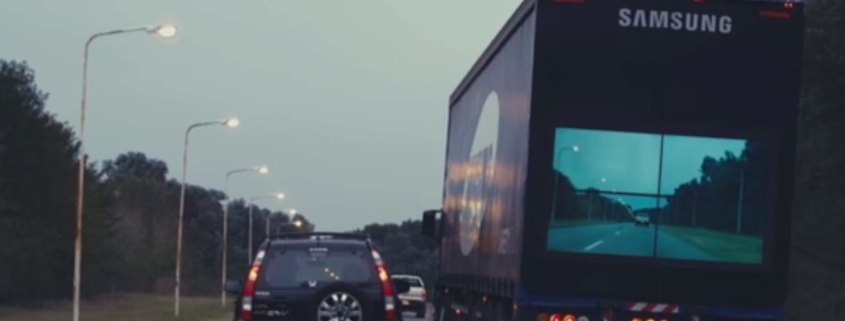 Samsung trials technology that lets you see THROUGH trucks