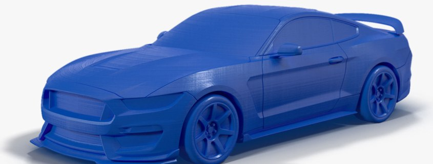 2016 Ford Shelby GT350R 3D printed