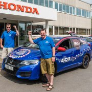 Honda breaks world record with 100mpg road trip