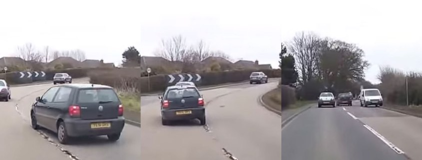 Man jailed after dangerous overtake is caught on dashcam