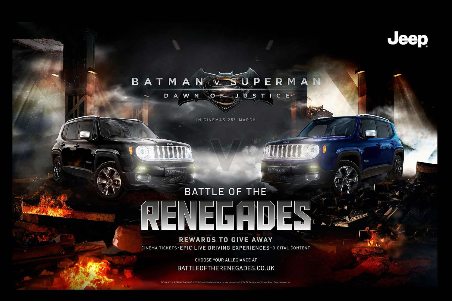 Jeep Batman v Superman Battle of the Renegades