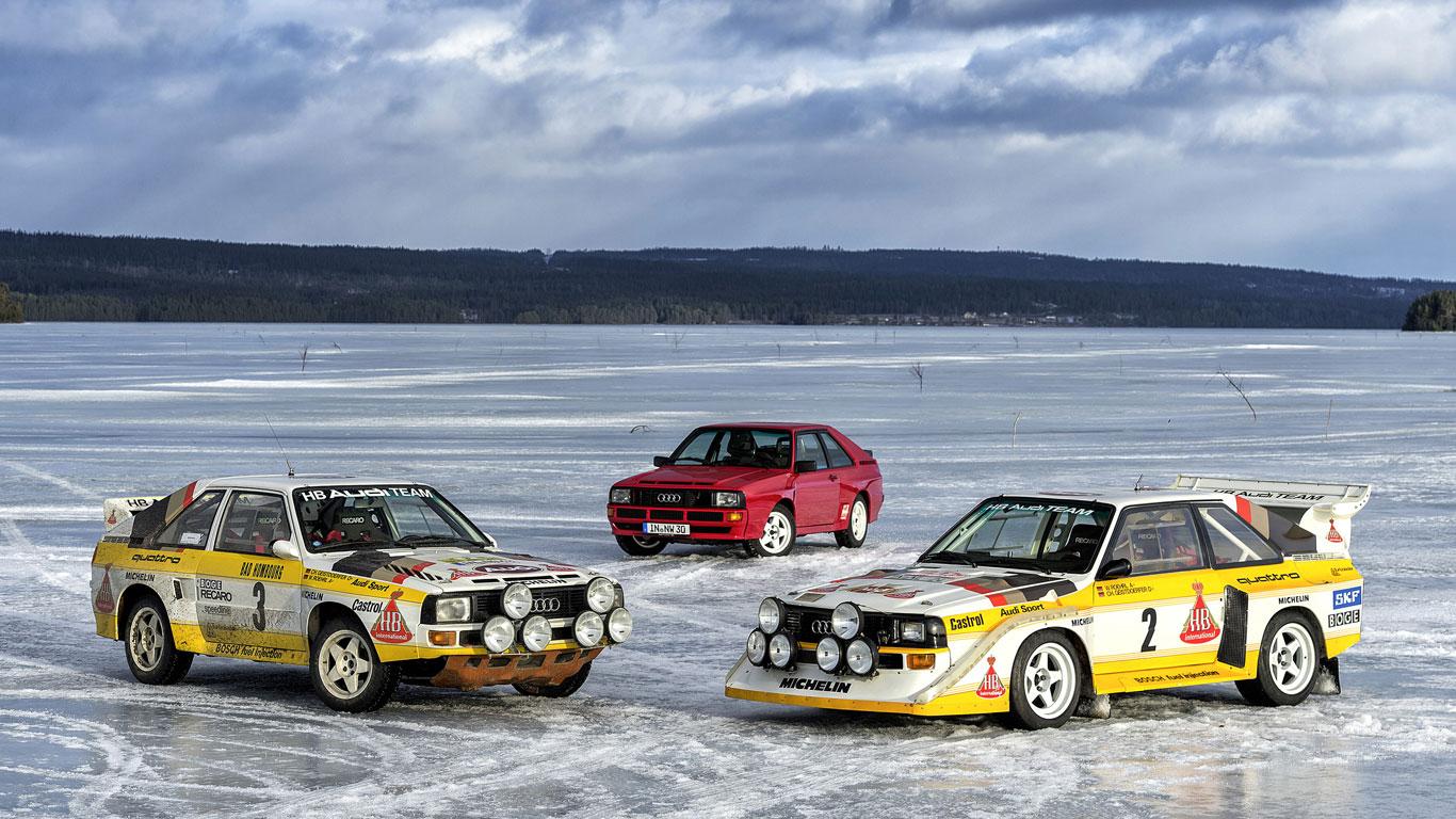 Group B Audi Quattro rally cars