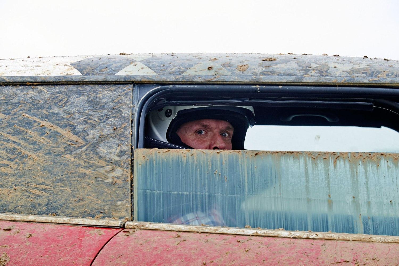 Star in a Rallycross Car
